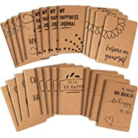 Kraft Paper Notebook, Happy Journal (4 x 5.75 in, 24 Pack)