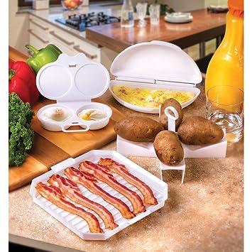 Plato de microondas huevo de cocina 4 piezas - Juego de desayuno ...