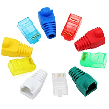 100 Pcs CAT6 RJ45 8P8C Network Cable End Plug Connector for Solid Wire 3 Teeth