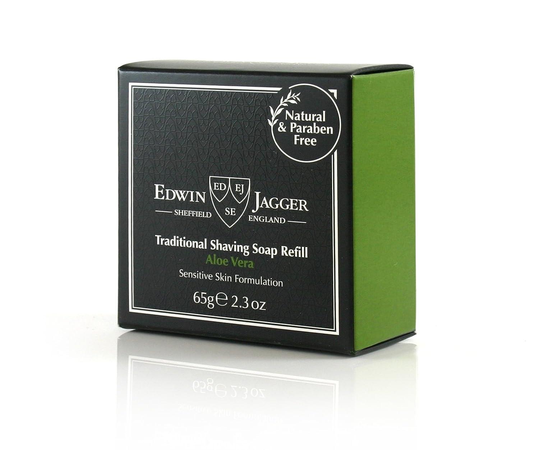 Edwin Jagger Aloe Vera 99.9% Natural Traditional Shaving Soap 65G Refill Edwin Jagger ES SSAVAMZ