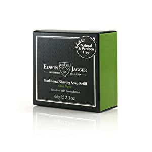 Edwin Jagger Aloe Vera 99.9% Natural Traditional Shaving Soap 65g Refill