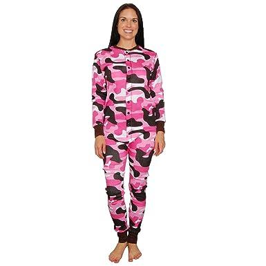 9c64daab8966 Amazon.com  Lazy One Womens Camo Flapjacks Adult Onesie Pajamas ...