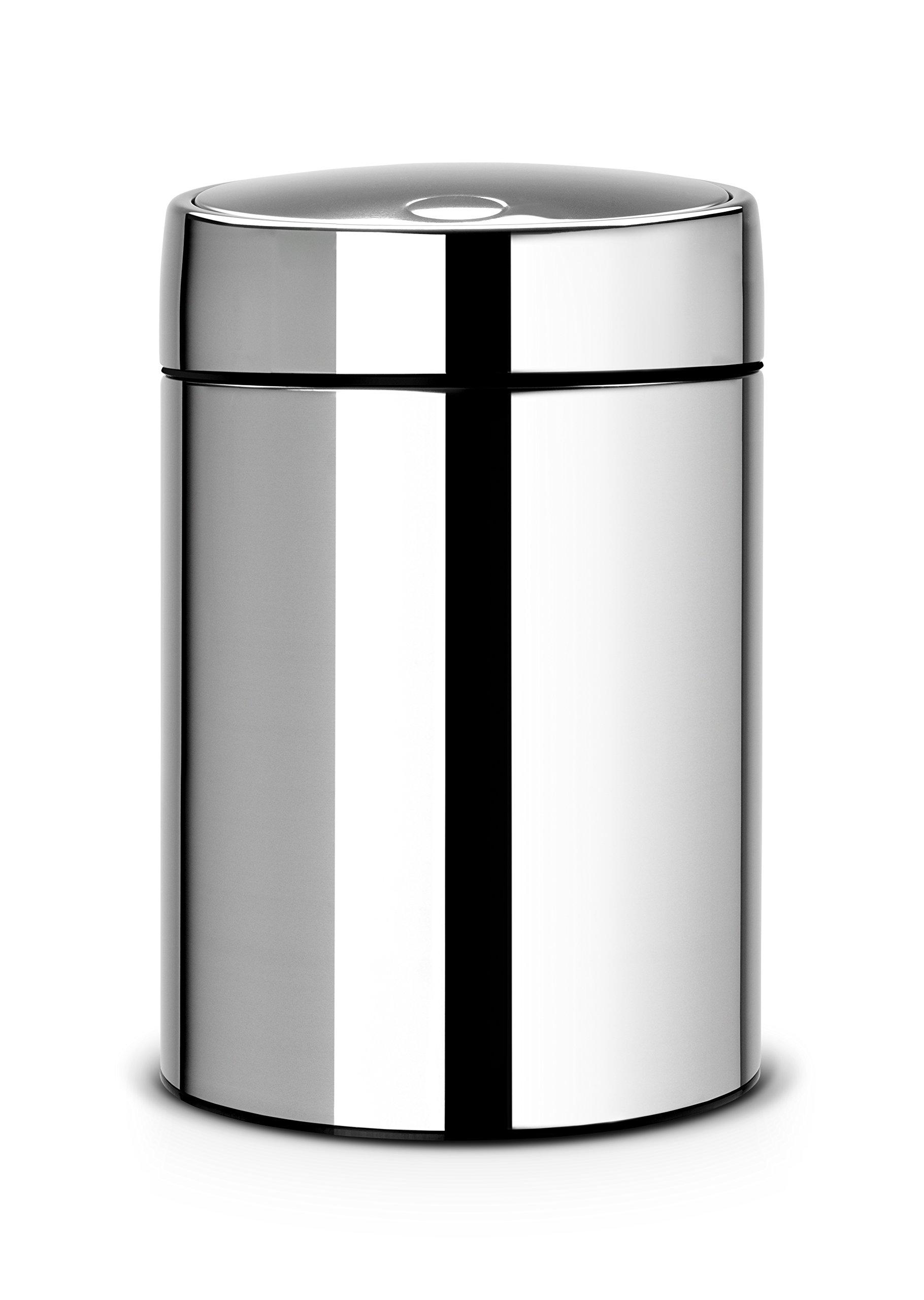Brabantia Slide Bin, 5 L - Brilliant Steel