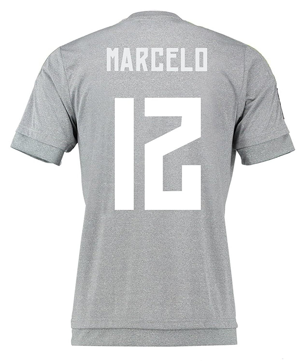 promo code cb643 b09a7 Amazon.com: Marcelo #12 Real Madrid Away Soccer Jersey 2015 ...