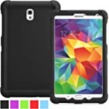 Samsung Galaxy Tab S 8.4 Case - Poetic Samsung Galaxy Tab S 8.4 Case [Turtle Skin Series] - [Corner/Bumper Protection] [Grip] [Sound-Amplification] Protective Silicone Case for Samsung Galaxy Tab S 8.4 Black (3 Year Manufacturer Warranty From Poetic)