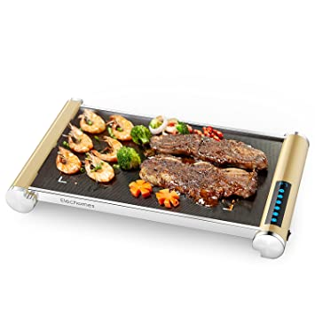 Amazon.com: LED Touch Control Electric Griddle - Elechomes Glass ...