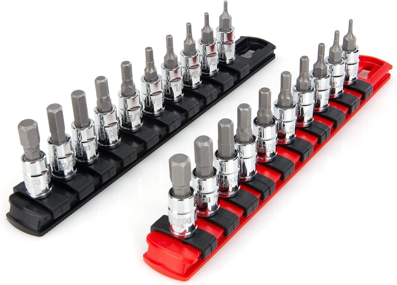 5//64-5//16 in, 2-8 mm TEKTON 1//4 Inch Drive Hex Bit Socket Set 20-Piece | SHB90201
