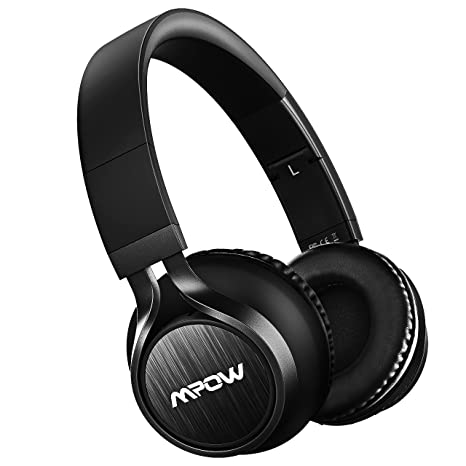 Mpow Thor Bluetooth Headphones On Ear, 40mm Driver Wireless Headset Foldable with Mic, Wired