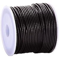 DonDon Lederen band rond 25 meter rol bruin 1,5 mm