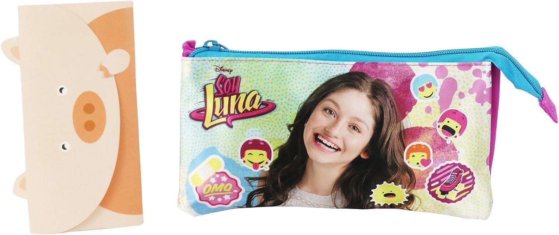 Disney Soy Luna Icons Estuche Escolar Làpices de Colores Plumier Dos compartimientos: Amazon.es: Equipaje