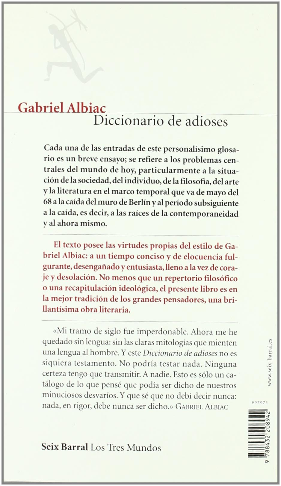 Diccionario de adioses: Amazon.co.uk: Gabriel Albiac: 9788432208942 ...