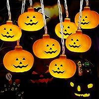 Luces Calabaza, Cadena de Luces Halloween Calabaza, Luces de Cadena de Calabaza 3m 20LED, Luces LED Calabaza para la…