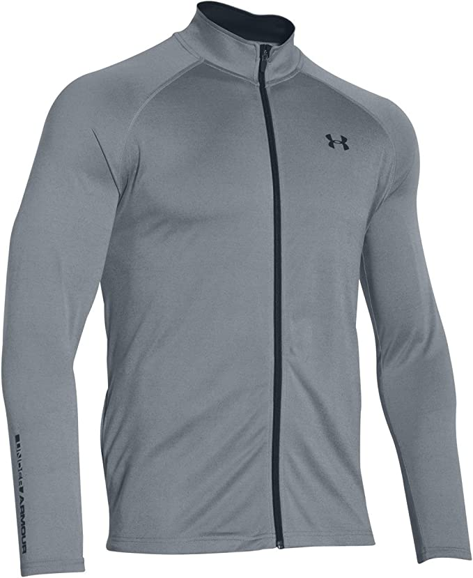 NEW MENS UNDER ARMOUR COLDGEAR FITTED RUN KNIT TRACK JACKET LG