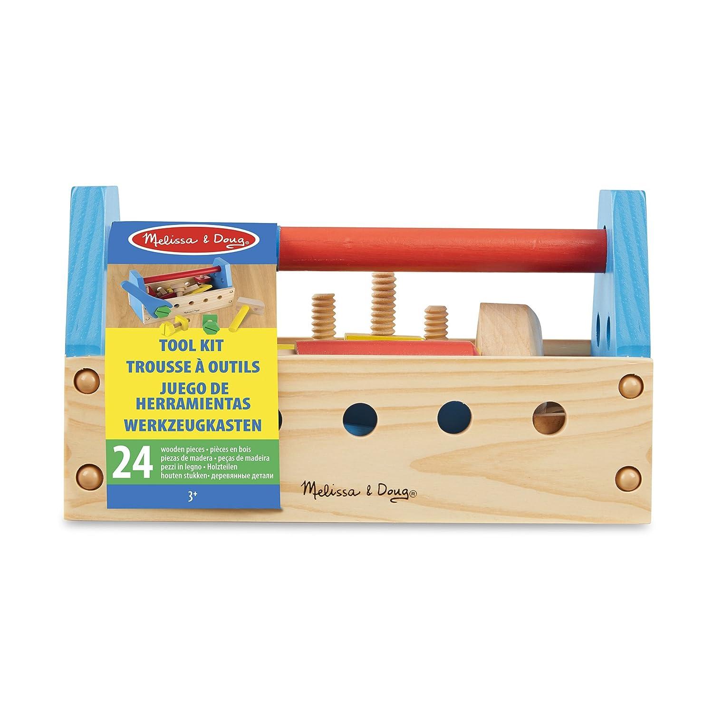 Melissa & Doug Take Along Tool Kit Wooden Construction Toy 24 pcs