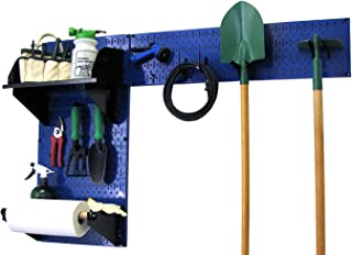 product image for Wall Control Pegboard Garden Supplies Storage and Organization Garden Tool Organizer Kit with Blue Pegboard and Black Accessories