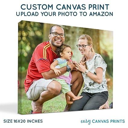 amazon com buildasign custom photo to canvas print 16x20 0 75