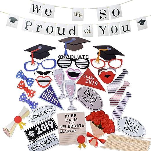 Bunting Banner Bandera Colgante de Graduación Decoración We are So ...
