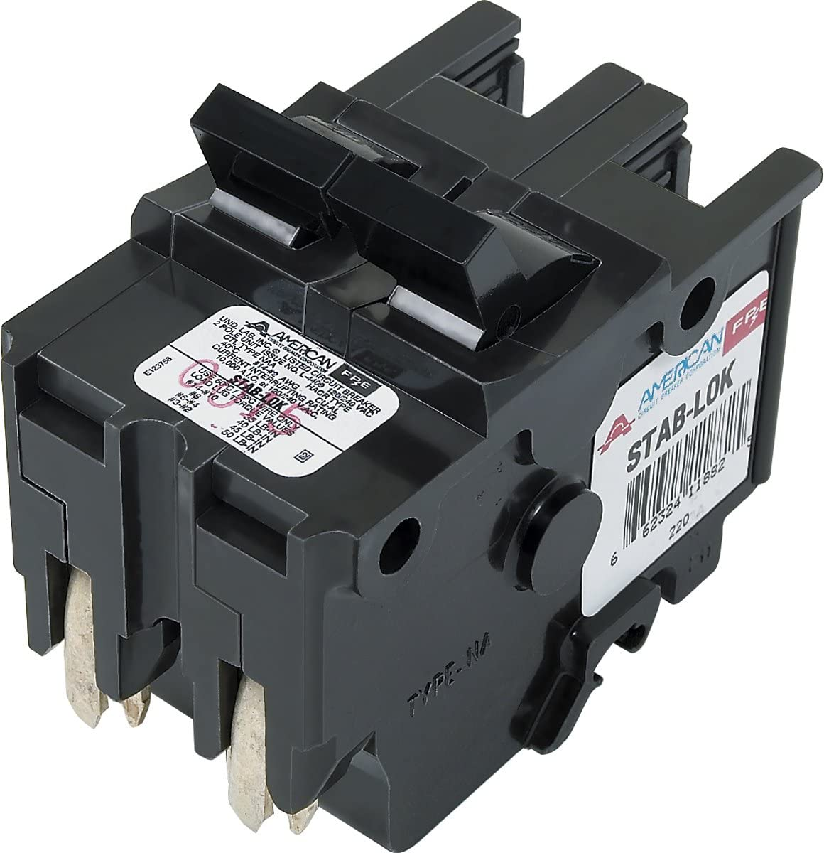 Federal Pacific FPE240 2 Pole 40 Amp 120//240 Volt Thick Circuit Breaker
