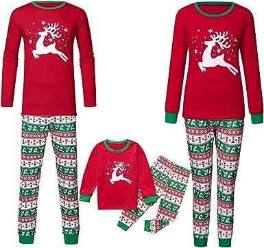 LUNULE Conjunto de Pijamas Familiares de Navidad Otoño ...