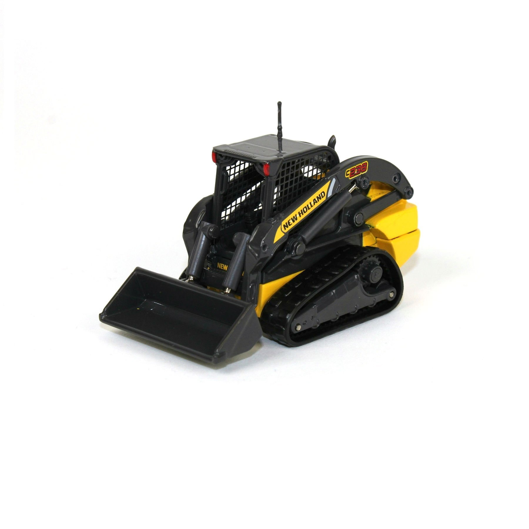 New Holland C238 Tracked Skid Steer, A detailed scale model of the New Holland C238 in scale 1:50. A quality die cast scale model with realistic and accurately replicated features and details just like the real machine. A collectors item,