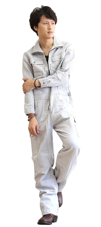 つなぎ メンズ おしゃれ 作業着 長袖 ツナギ 作業服 レディース 男女兼用 B01M0FE534 4Lサイズ|グレー