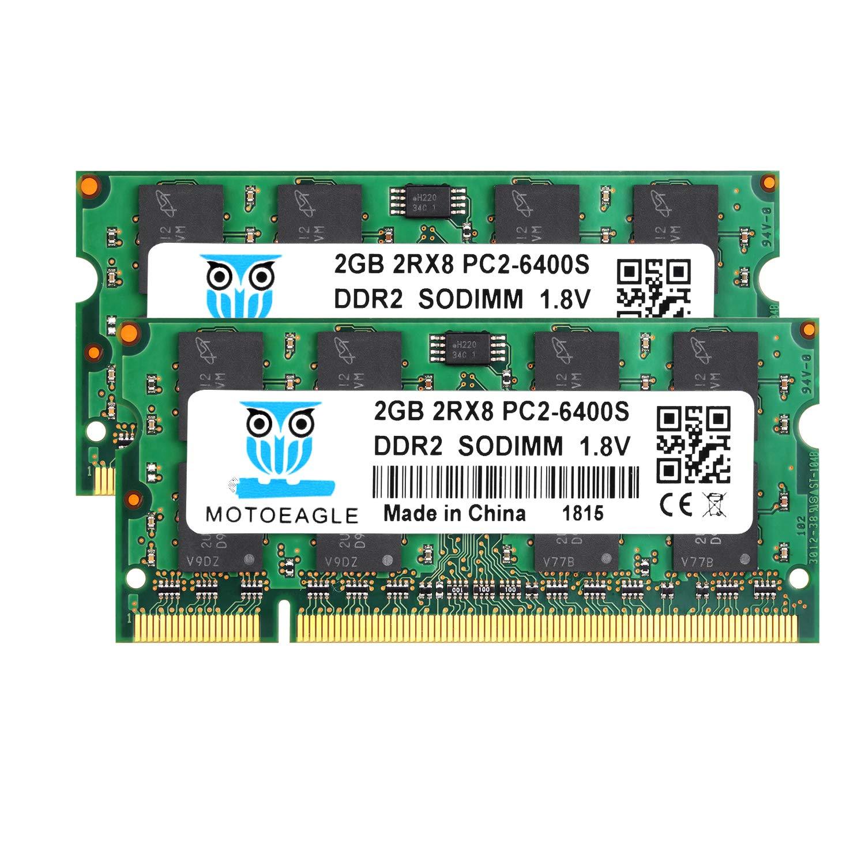 Memoria Ram 4GB (2X2GB) DDR2 800MHZ SODIMM MOTOEAGLE
