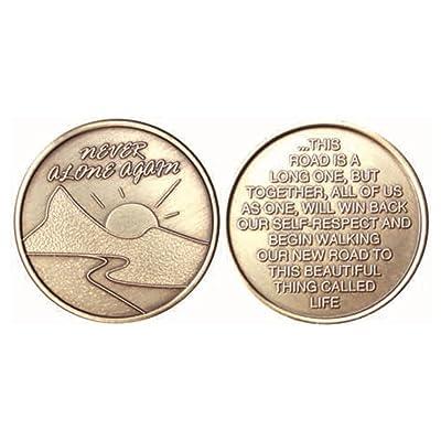 Bulk Lot of 25 Never Alone Again Sunrise River Bronze AA Medallion Chip Set: Toys & Games
