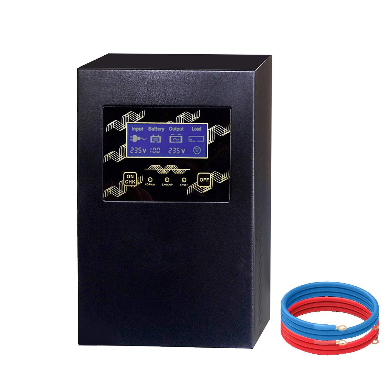 Tumo-Int 1000W Cargador de Inversor Baja Frecuencia de Onda Sinusoidal Pura de DC 12V a AC 220V