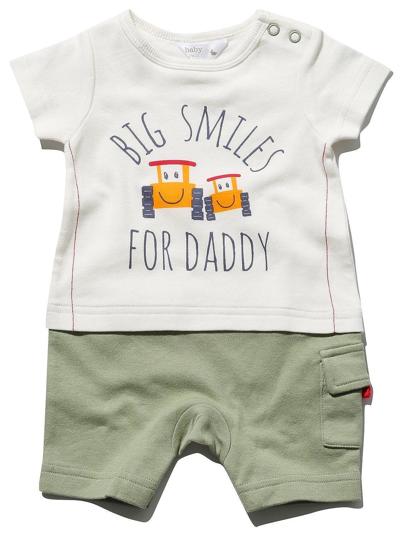 Baby Newborn Boy White Smart Bodysuit Top Romper 100/% Cotton Summer Short Sleeve