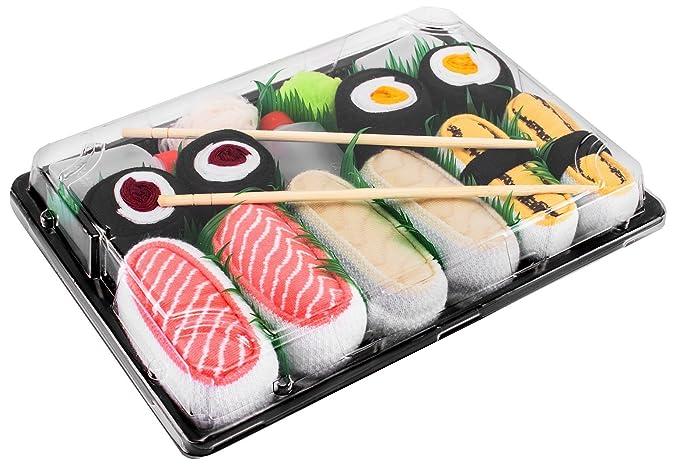 Sushi Socks Box - 5 pares de CALCETINES: Maki de Pepino, Maki de Oshinko