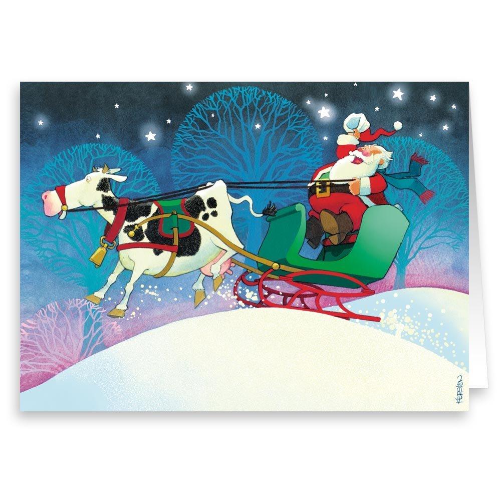 Amazon.com: Farmer Santa - Boxed Christmas Card - 18 Cards ...