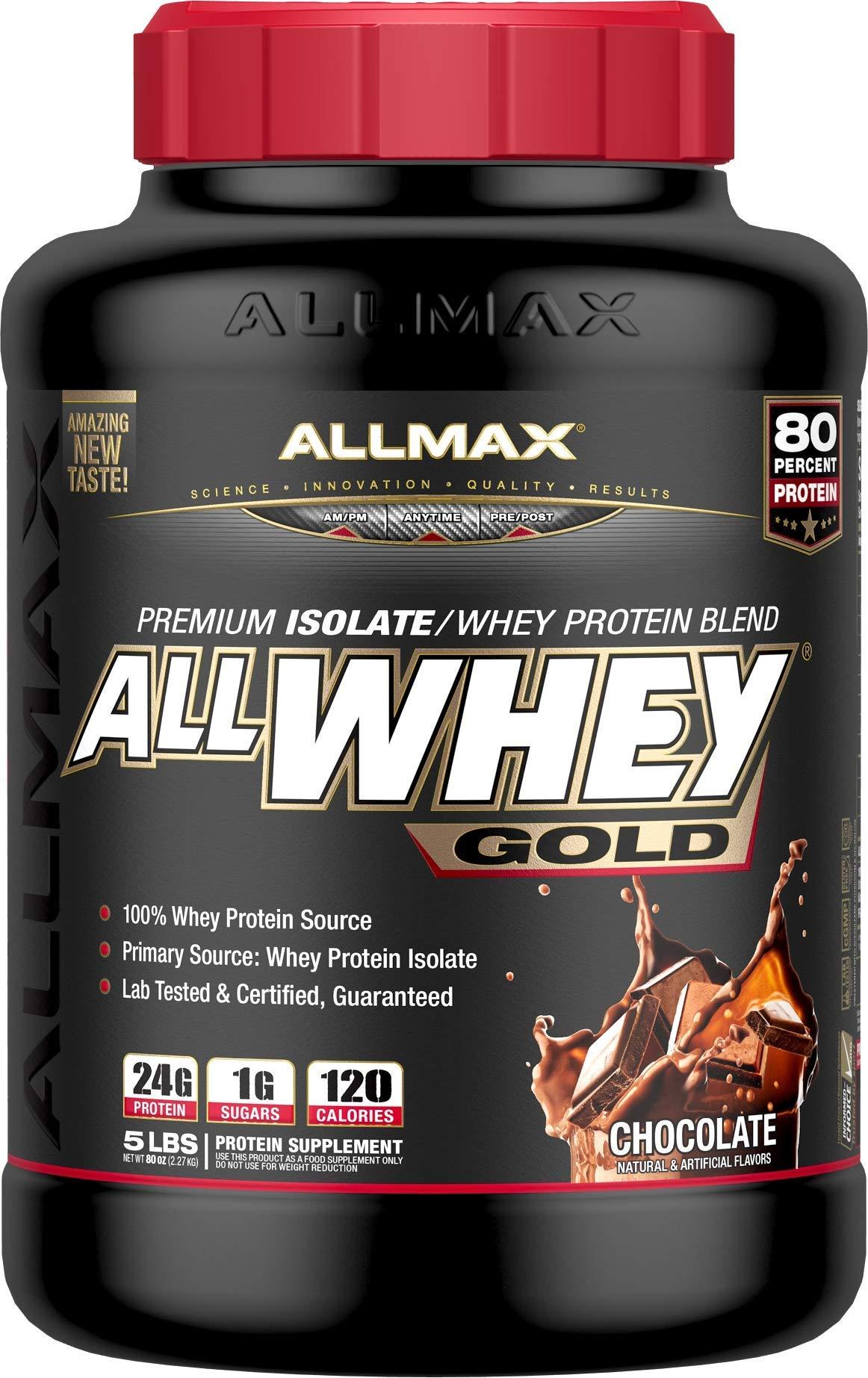 ALLMAX Nutrition AllWhey Gold Whey Protein, Chocolate, 5 lbs by ALLMAX Nutrition