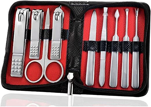 LNYJ Set de 9 piezas set de manicura kit de uñas nail art tools todo for