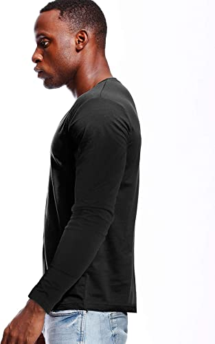 Zbrandy Deep V Collo Camicie Uomo Manica Lunga Stretch T-Shirt Low Cut Undershirts Tees