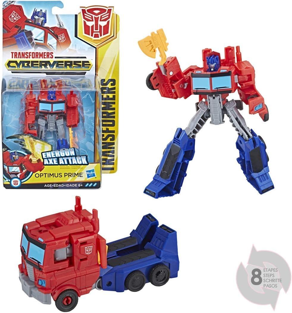 Transformers - Cyberverse Warrior Optimus Prime (Hasbro E1901ES0): Amazon.es: Juguetes y juegos