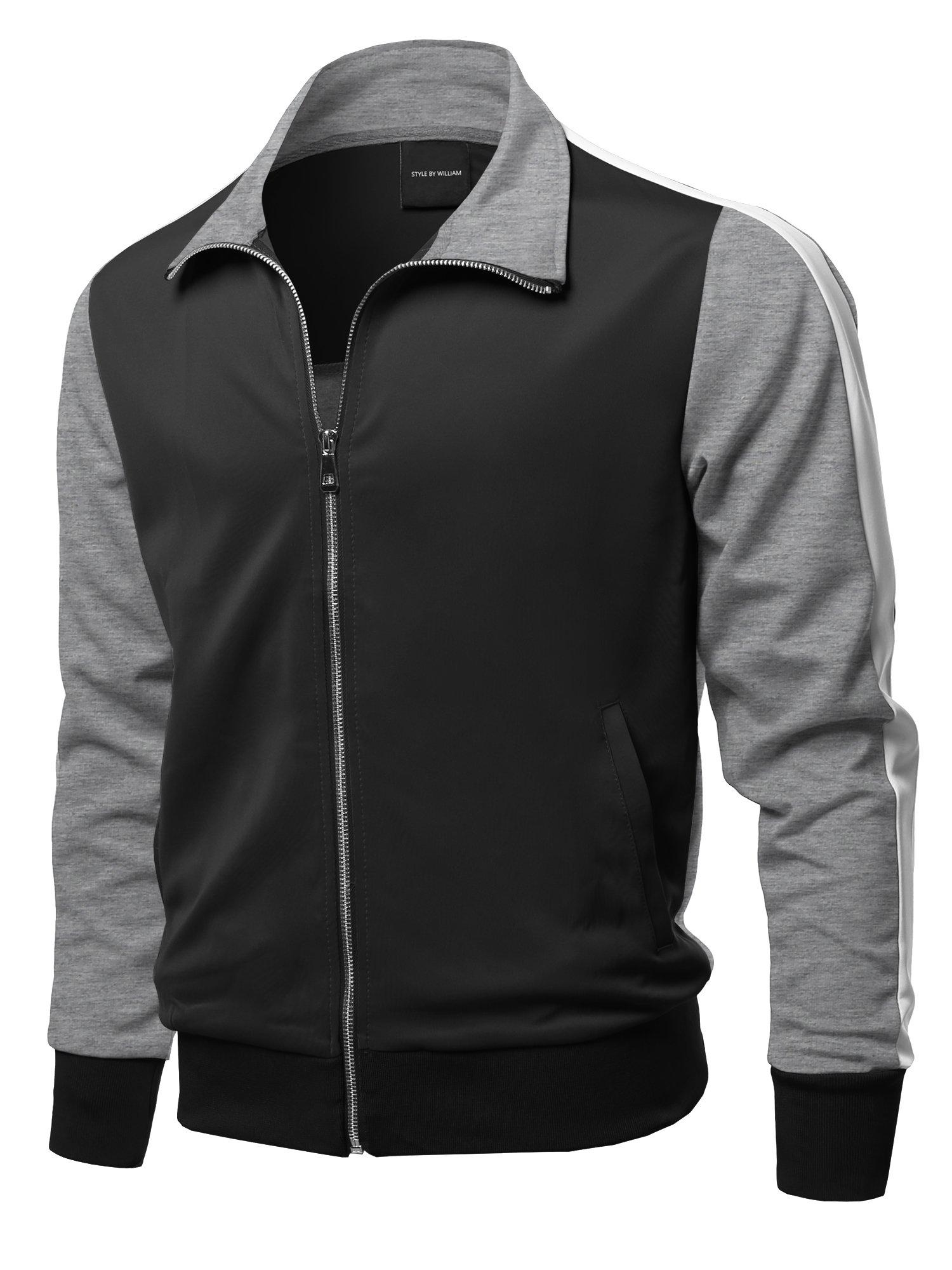 Casual Premium Quality Shoulder Panel Color Block Zip-up Track Jacket S