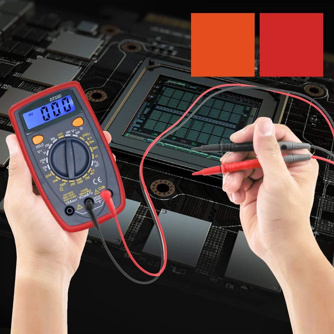 Amper/ímetro DC,con retroiluminaci/ón LCD Probador NoyoKere Mult/ímetro Digital Multi Tester Volt/ímetro,1999 Port/átil Polimetro,Volt/ímetro AC//DC