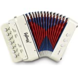 Mugig Button Accordion, 10 Keys Control Accordion include 3 Air Valve, Easy to Play, Lightweight and Environmentally…