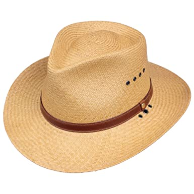 ab74ac4a Genuine Panama Hat Khaki Color 3 inch Brim USA Made No. 2 at Amazon ...