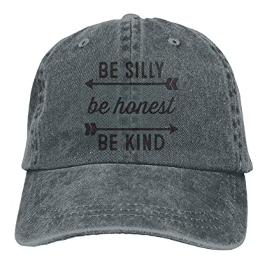 Silly Be Honest Be Kind Plain Washed Dad Solid Cotton Polo Style ...