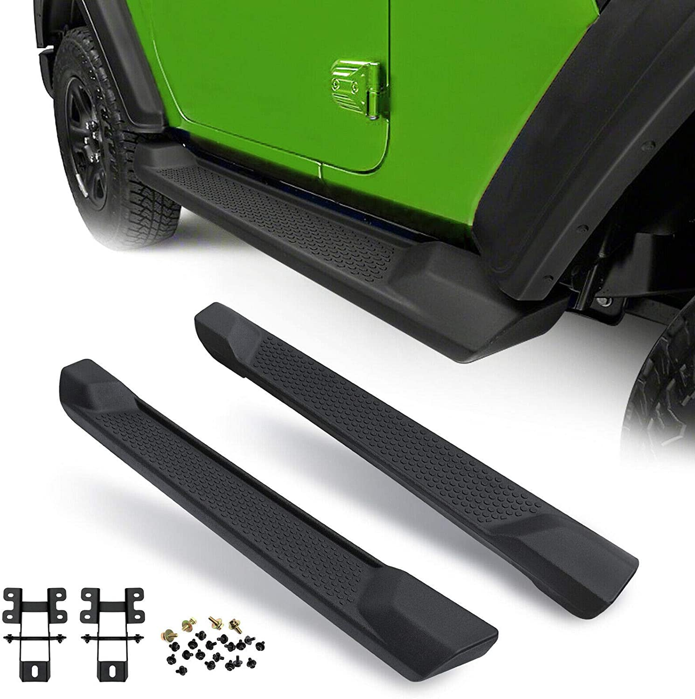 Black Textured Powder Coating Finishing Bentolin Side Step Nerf Bars Tubular Running Board for 2018-2019 Jeep Wrangler JL 4Door