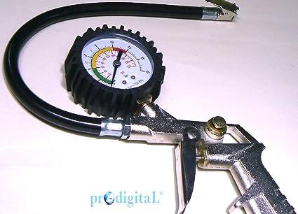 ProDigital pistola profesional para talleres – Accesorio compresor para inflar neumáticos con manómetro gomas