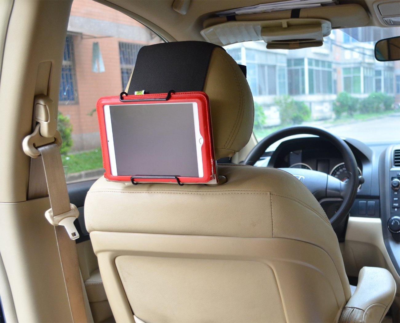 Bayan Universal Car Headrest Mount Holder for 6 Inch to 12.9 Inch Tablet PCs 6UHM_BK
