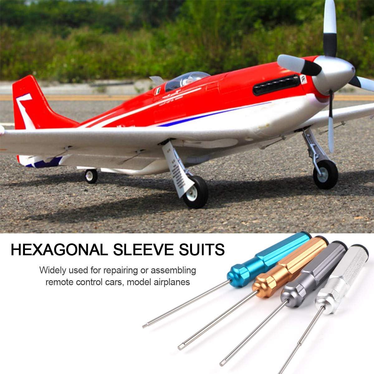 4 PCS Destornilladores Hexagonal Acero de Alta Velocidad para RC Modelo Helic/óptero Transmisor del Coche 1.5 mm, 2.0 mm, 2.5 mm, 3.0 mm RC Herramientas Kit