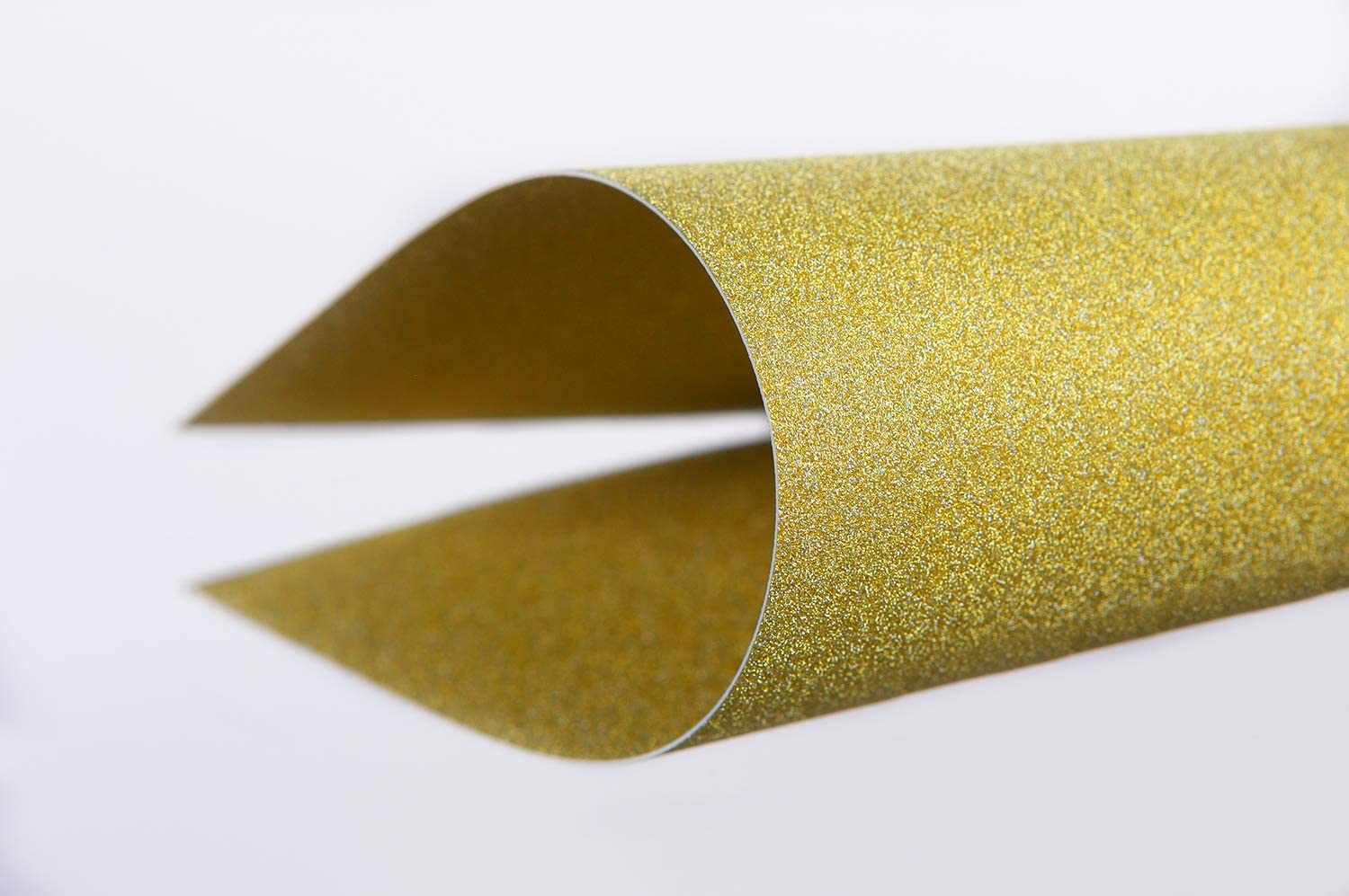 30-Pack Gold Glitter Paper for DIY Craft Projects 110 lb Cover Stock 8 x 12 inches Birthday Party Decorations Gold Glitter Cardstock Scrapbook Double-Sided