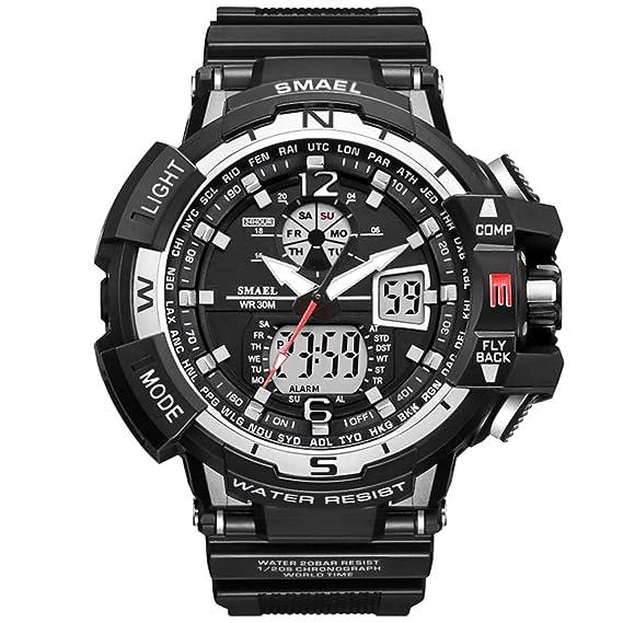 Beydodo Reloj Montañismo Reloj Deportivo Reloj Hombre Relojes LED Reloj Impermeable Reloj Multifunción Reloj de Doble Pantalla Relojes Electronicos Negro ...