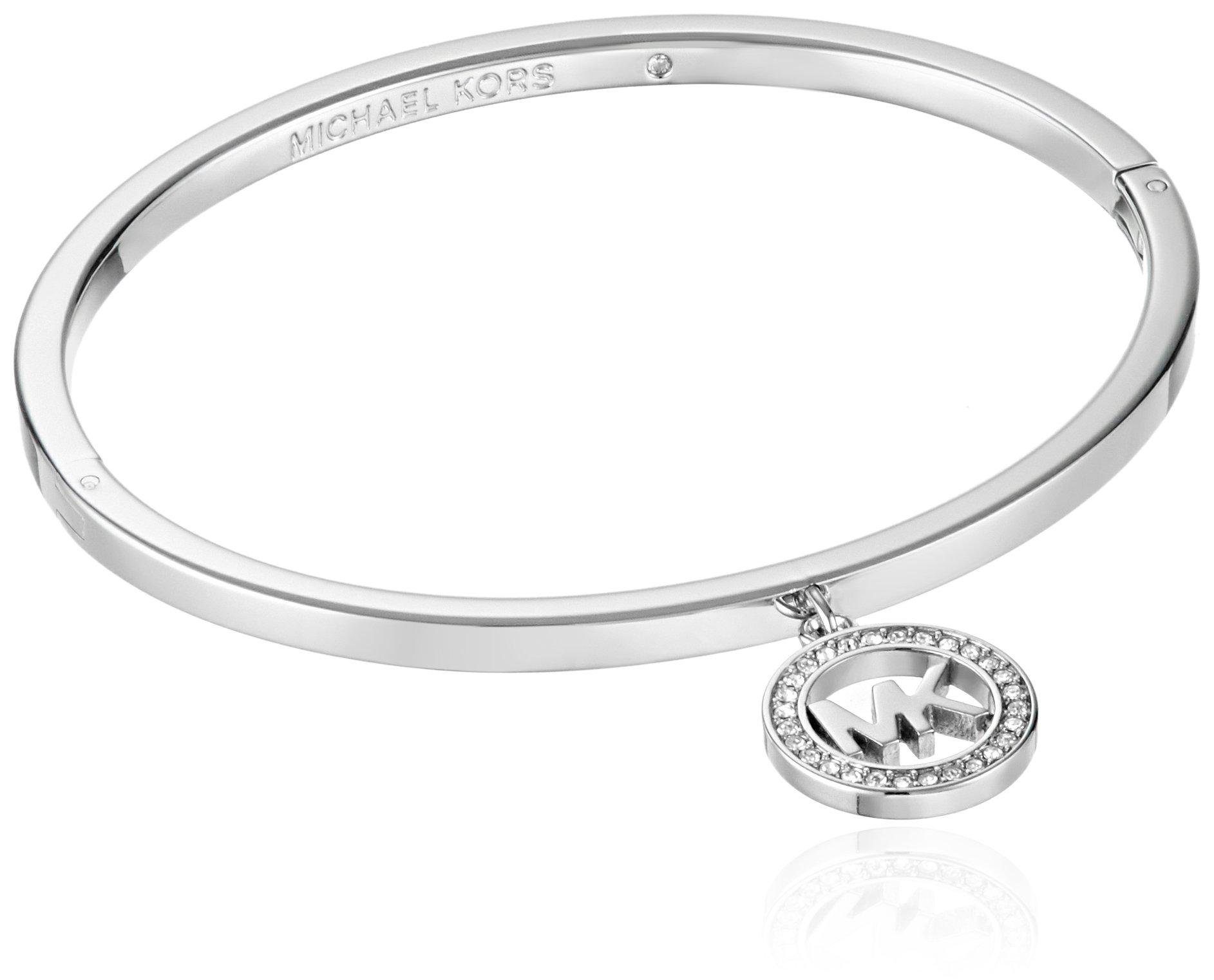 Michael Kors Silver Jewelry Hinged Bangle Bracelet