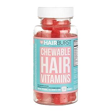 25977437b97fa HAIRBURST Chewable Hair Growth Vitamins - Contains Biotin for Hair Growth -  for Longer