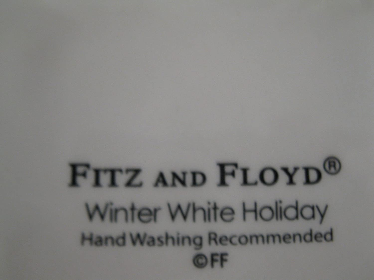 amazon com fitz u0026 floyd winter white holiday santa server