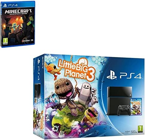 Sony Playstation 4 Console PS4 500GB Little Big Planet 3 + Minecraft Bundle Game Great Game from PS4 for the under 12 [Importación Inglesa]: Amazon.es: Videojuegos